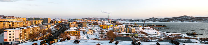Panoramic view of Petropavlovsk-Kamchatsky city Royalty Free Stock Photo