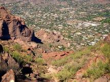 Panoramic view of Phoenix, AZ stock photo
