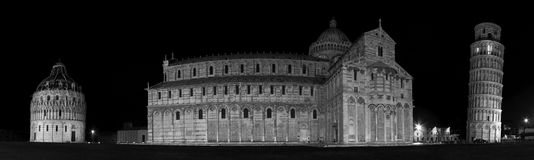 Pisa, Italy. Panoramic view of Piazza Dei Miracoli in Pisa,Tuscany, Italy Stock Photo