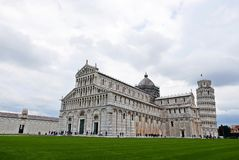 Cathedral and Leaning tower of Pisa royalty free stock image
