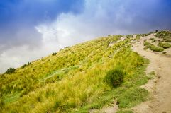 Panoramic view at the Pichincha volcano, located just to the side of Quito, which wraps around its eastern slopes Stock Photography