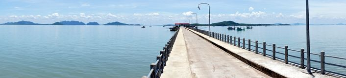 Panoramic view of the pier Royalty Free Stock Images
