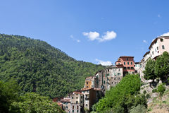 Panoramic view of Pigna village, Imperia Province Royalty Free Stock Image