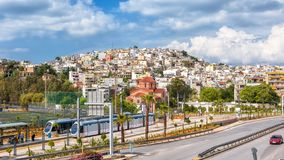 Panoramic view of Piraeus near Athens, Greece royalty free stock image