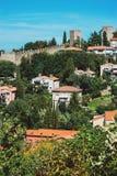Panoramic view of Piran, Slovenia in summer Stock Photos