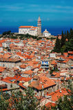 Panoramic view of Piran, Slovenia in summer Royalty Free Stock Images