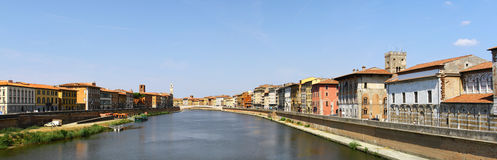 Panoramic view of Pisa Royalty Free Stock Images