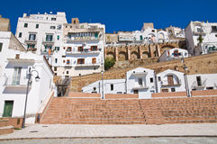 Panoramic view of Pisticci. Basilicata. Italy. Royalty Free Stock Photography