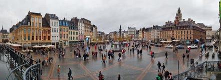 Panoramic view of Place du Général de Gaulle, Lille, France