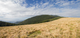 Panoramic view of the plains and mountains Royalty Free Stock Photos