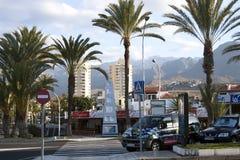 Panoramic view Playa de Las Americas, Tenerife Royalty Free Stock Photo