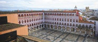 Panoramic view of Plaza Alta in Badajoz, Extremadura, Spain Royalty Free Stock Image