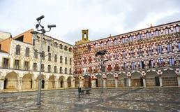 Panoramic view of Plaza Alta in Badajoz, Extremadura, Spain Royalty Free Stock Images