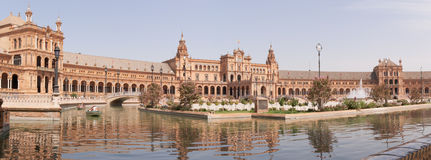 Panoramic view of Plaza de Espana Stock Photos