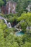 Panoramic view of Plitvice lakes Stock Images