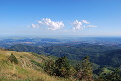 Panoramic view on Po valley Stock Photo