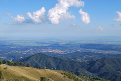 Panoramic view on Po valley Royalty Free Stock Image