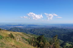 Panoramic view on Po valley Royalty Free Stock Photo