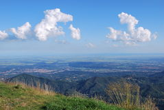 Panoramic view on Po valley Stock Image