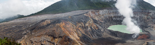 Panoramic view of Poas Volcano - 2012 Stock Photography