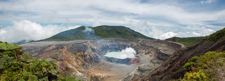 Panoramic view of Poas Volcano - 2012 Stock Images