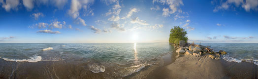 Panoramic view of Point Pelee National Park beach in the summer Stock Photos