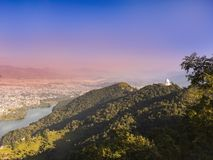 A PANORAMIC VIEW OF POKHARA VALLEY, royalty free stock image