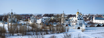Panoramic view of Pokrovsky monastery  at Suzdal Royalty Free Stock Photos