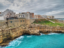 Panoramic view of Polignano. Apulia. Royalty Free Stock Photo