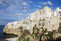 Panoramic view of polignano a mare Royalty Free Stock Images