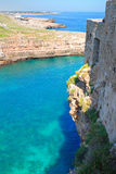 Panoramic view of Polignano. Puglia. Italy. Royalty Free Stock Photos