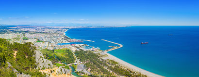 Panoramic view of popular seaside resort city Antalya, Turkey Stock Photography