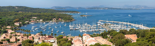Panoramic view of Porquerolles island in France Royalty Free Stock Photos