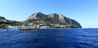 Panoramic view of Marina Grande seaport, Capri Island - Italy Royalty Free Stock Images
