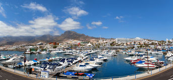 Panoramic view of the port Colon, Tenerife Stock Photos