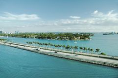 Panoramic view of Port Everglades, Fort Lauderdale Royalty Free Stock Photo