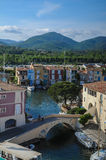 Panoramic view of Port Grimaud, France Royalty Free Stock Image