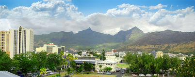Panoramic view of Port Louis Royalty Free Stock Photography