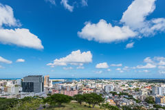Panoramic view of Port Louis, Mauritius, Africa Stock Photo