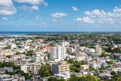 Panoramic view of Port Louis, Mauritius, Africa Stock Photo