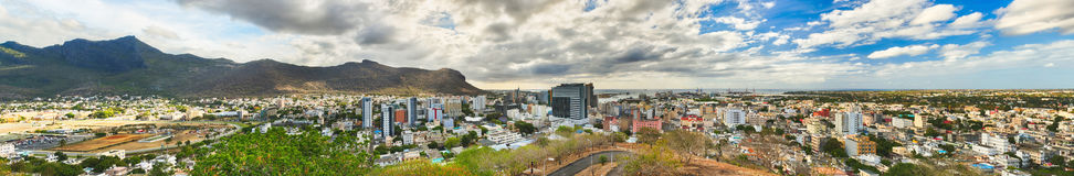 Panoramic view of Port Louis, Mauritius Royalty Free Stock Photos