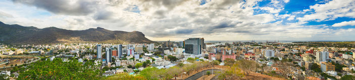 Panoramic view of Port Louis, Mauritius Stock Image