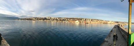 Panoramic view on the port of Rijeka,Kvarner,Croatia royalty free stock photo