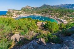 Panoramic view of Porte de Soller, Palma Mallorca, Spain. Panoramic view of Porte de Soller island, Palma Mallorca island, Spain Royalty Free Stock Photography