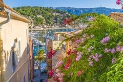 View of Porte de Soller, Palma Mallorca, Spain. Panoramic view of Porte de Soller, Palma Mallorca, Spain Royalty Free Stock Images