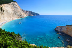Panoramic view of Porto Katsiki beach Royalty Free Stock Photo