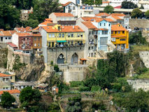 Guindais houses in Porto, Portugal Royalty Free Stock Photos