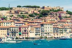 Panoramic view of Portoferraio, Elba island, Italy. Stock Photo