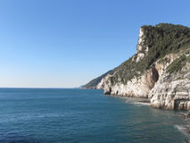Panoramic view from Portovenere, Province of La Spezia, Italy Stock Images