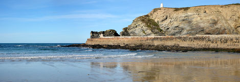 Panoramic view of Portreath. Stock Image